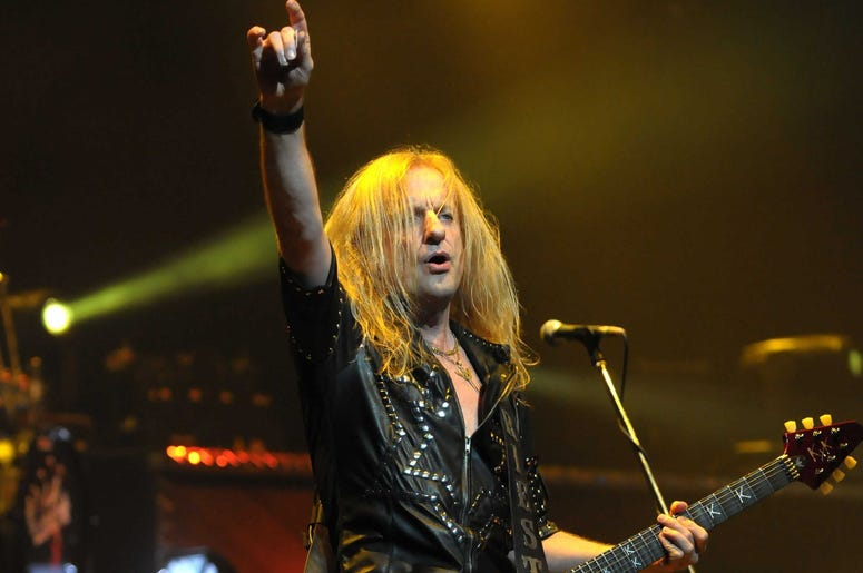Judas Priest guitarist K.K. Downing performs at Hard Rock Live