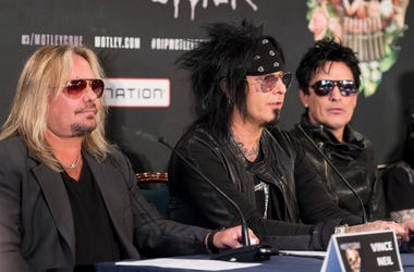 Motley Crue attend the last ever European press conference
