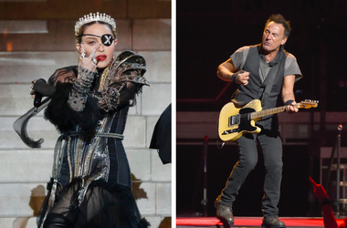 Madonna and Bruce Springsteen