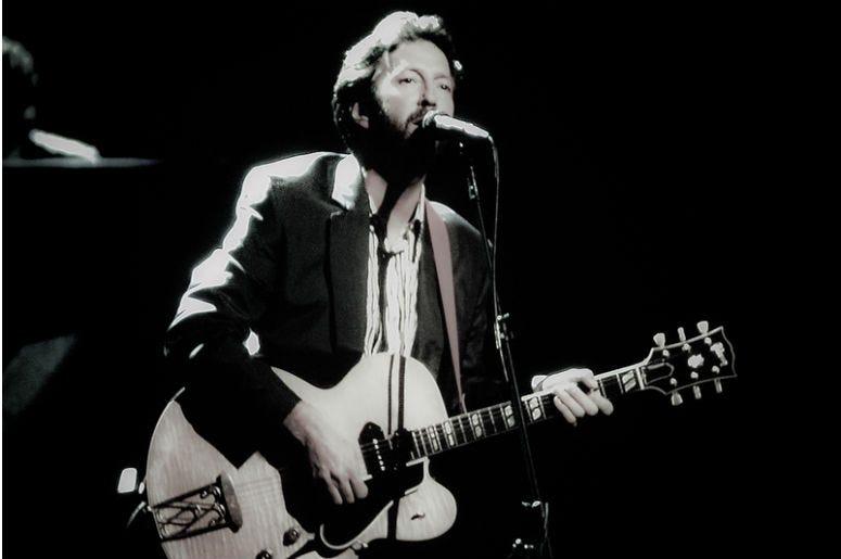 Vintage image of Rock legend Eric Clapton. (Image taken from color negative.)