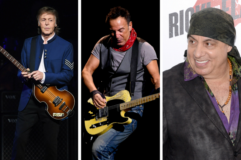 Paul McCartney, Bruce Springsteen, Steven Van Zandt