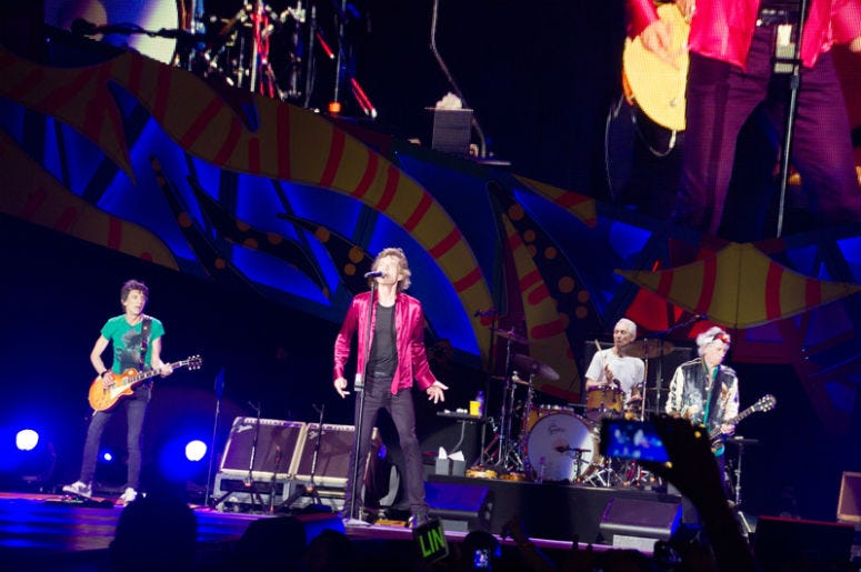 The Rolling Stones performing in Havana, Cuba 2016