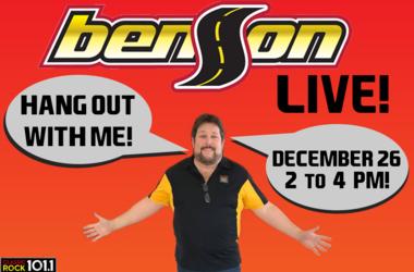 Chris Lee at Benson in Greer December 26th