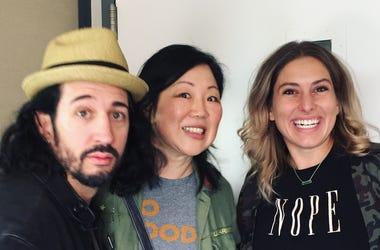 Allie Hartwick, Margaret Cho & Rocco Stowe at Comedy 103.1 Denver