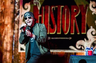 M. Shadows of Avenged Sevenfold performs during Avenged Sevenfold's The Stage World Tour