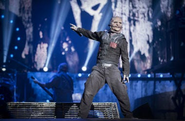 Corey Taylor from Slipknot performs at 2015 Rock in Rio on September 25, 2015