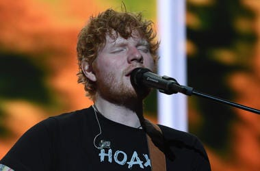 Ed Sheeran performs at the American Airlines Arena