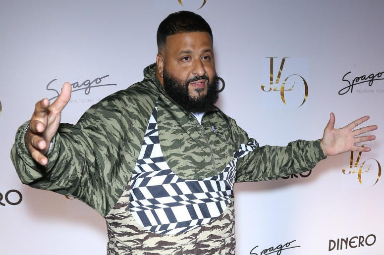 """DJ Khaled. Jennifer Lopez Celebrates Release of New Single """"Dinero"""" with Wolfgang Puck During Sneak Peek of the New Spago at Bellagio."""