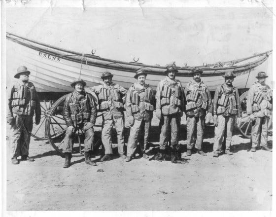 Joshua James and crewmembers of the US Life Saving Service