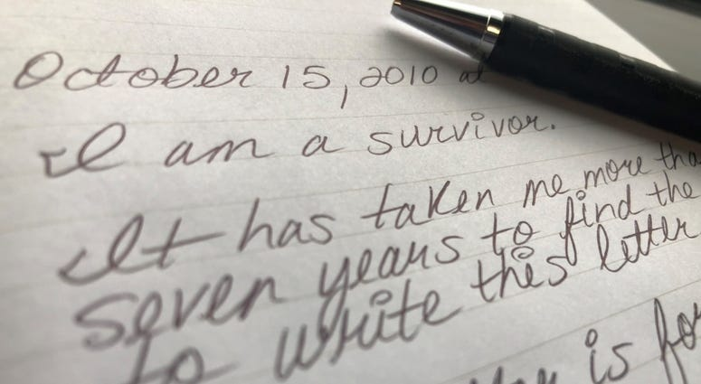 Letter from a survivor, 2018.