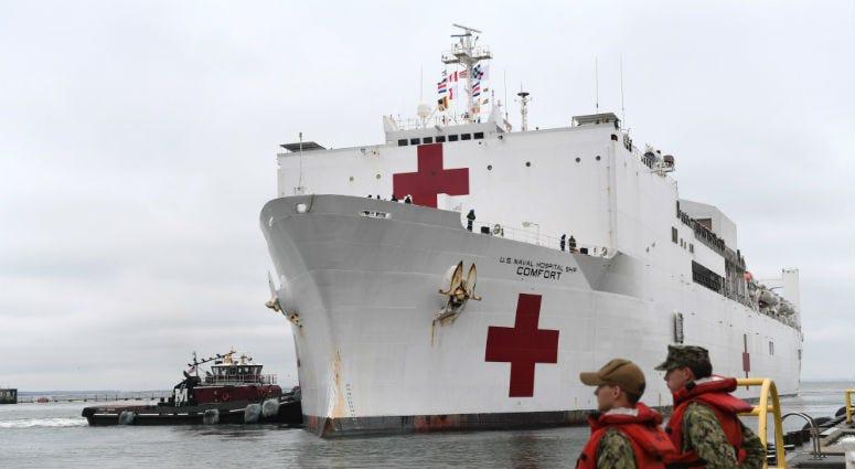 USNS Comfort (T-AH 20) returns to Naval Station Norfolk after a five month deployment.