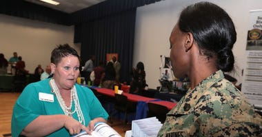Marine Corps Community Services held its annual Career and Education Fair aboard Marine Corps Logistics Base