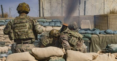 Mortar livefire in Afghanistan
