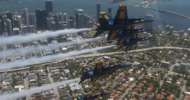 Blue Angels America Strong Flyover