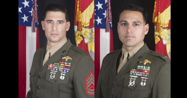 Gunnery Sgt. Diego D. Pongo (left) and Capt. Moises A. Navas (right)