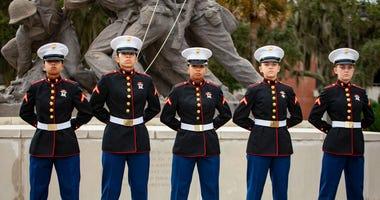 Marine Corps Recruit Sisters