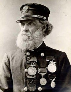The most decorated life saver in American history- US Life Saving Service Keeper Joshua James