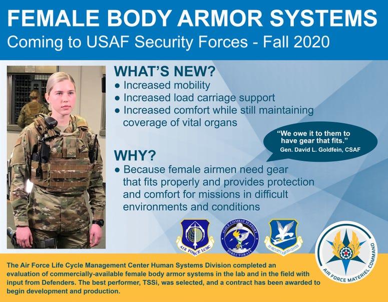 Air Force Female Body Armor