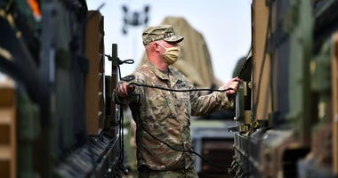A soldier assigned to Bravo Company, 2nd Battalion, 12th Cavalry Regiment