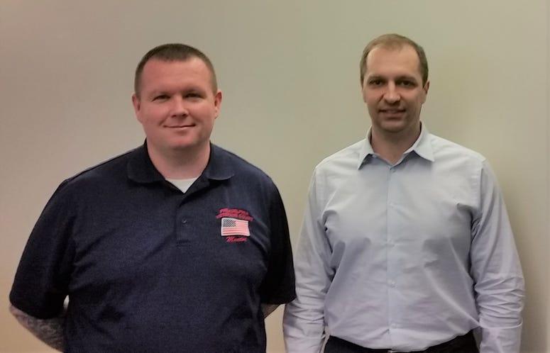 USMC vet Tim Wynn and Army vet and attorney Brian Kint of Philadelphia law firm Cozen OConnor