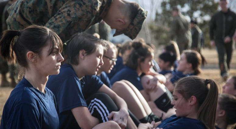 Future Female Marine Recruits