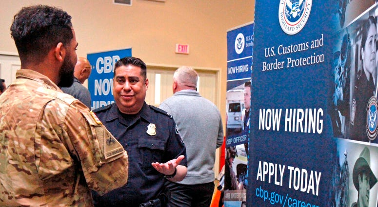 Hundreds of tables divided the Fort Bliss Centennial Banquet and Conference Center ballroom into a maze of employers, many of whom were repeat attenders. Event organizer Denise Carothers said they come back every six months because they've seen the proces