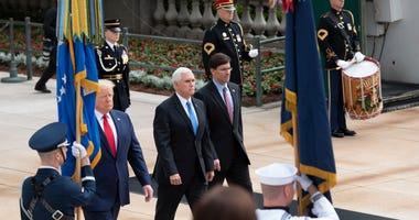 Trump, Pence, Esper