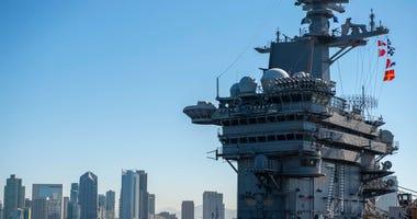 USS Theodore Roosevelt leaves San Diego, Oct. 13