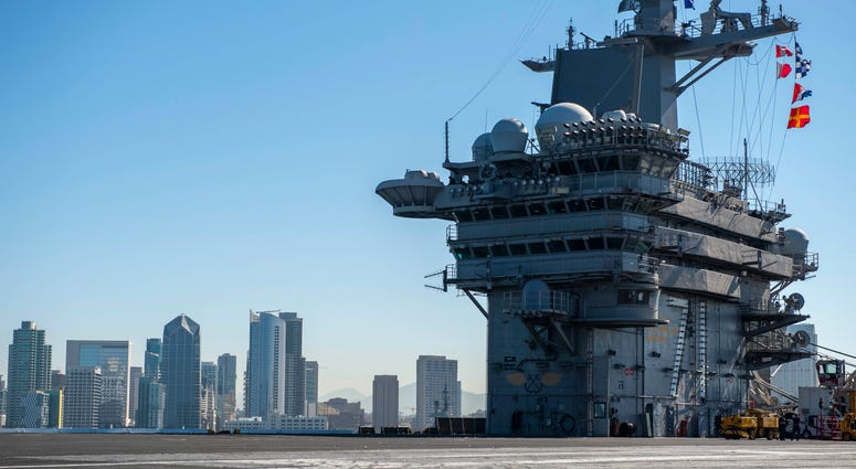 USS Theodore Roosevelt leaves San Diego, Oct. 13