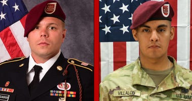 Staff Sgt. Ian P. McLaughlin, 29, of Newport News, Virginia and Pfc. Miguel A. Villalon.