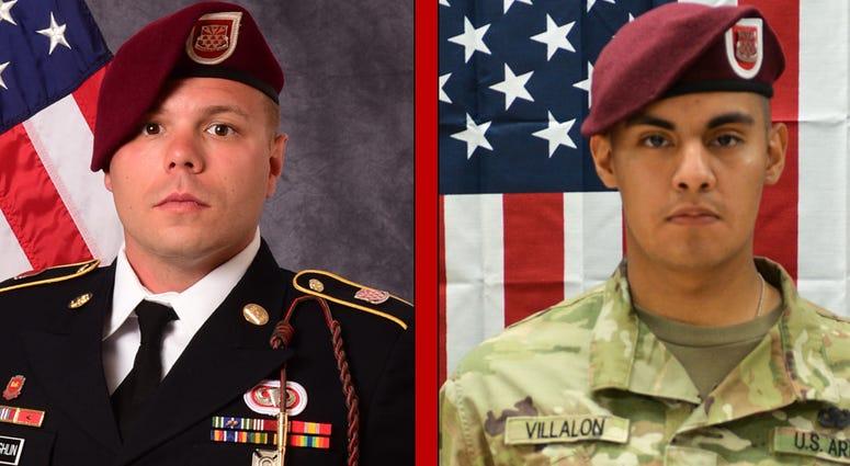 Staff Sgt. Ian P. McLaughlin, 29, of Newport News, Virginia and Pfc. Miguel A. Villalon.