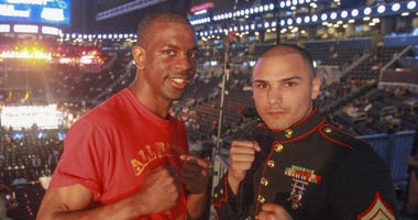 Marine Corps veteran Jamel Herring wins WBO  junior lightweight world champion.