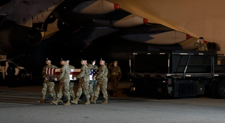 Trump pays respects to Army officers killed in Afghanistan