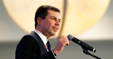 Democratic presidential candidate former South Bend, Ind., Mayor Pete Buttigieg speaks at the Iowa State Education Association Candidate Forum