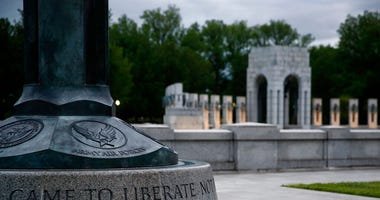 This May 6, 2020, photo shows the World War II Memorial in Washington