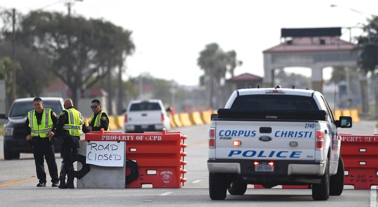 The entrances to the Naval Air Station-Corpus Christi are closed following an active shooter threat