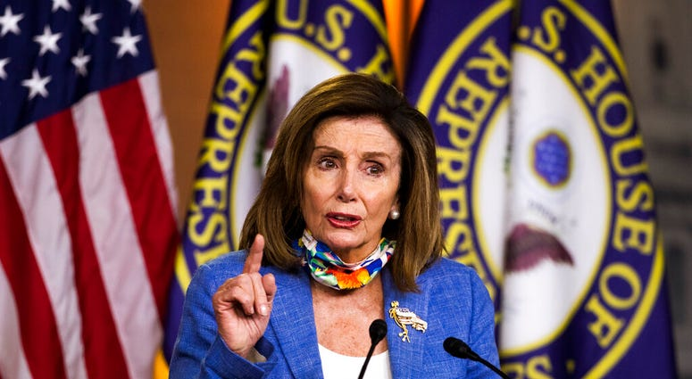 House Speaker Nancy Pelosi of Calif., speaks during a news conference on Capitol Hill