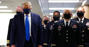 Trump at Walter Reed