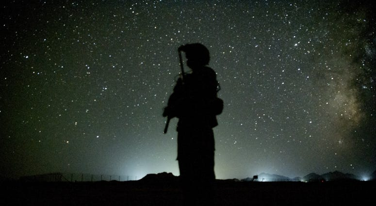 A soldier in Afghanistan
