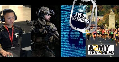 CBS Eye on Veterans coverage of the Army 10 Miler race and Armycon 2019
