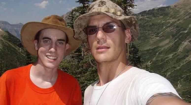 Jacob and Austin Tice at Glacier National Park.