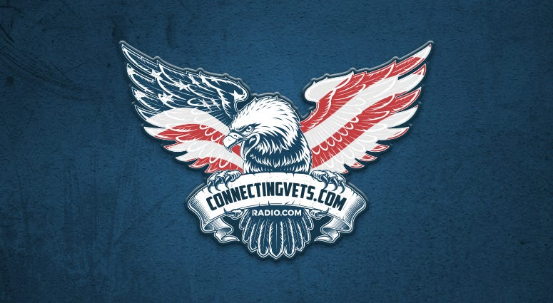 Connecting Vets logo with RADIO.COM inclusion.