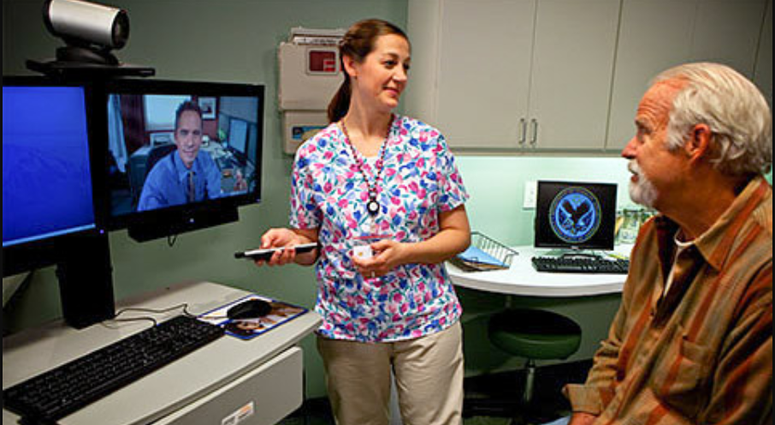 Using videoconferencing technologies to allow veterans to connect with their clinical caregivers.