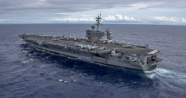 Carrier strike group in the South China Sea