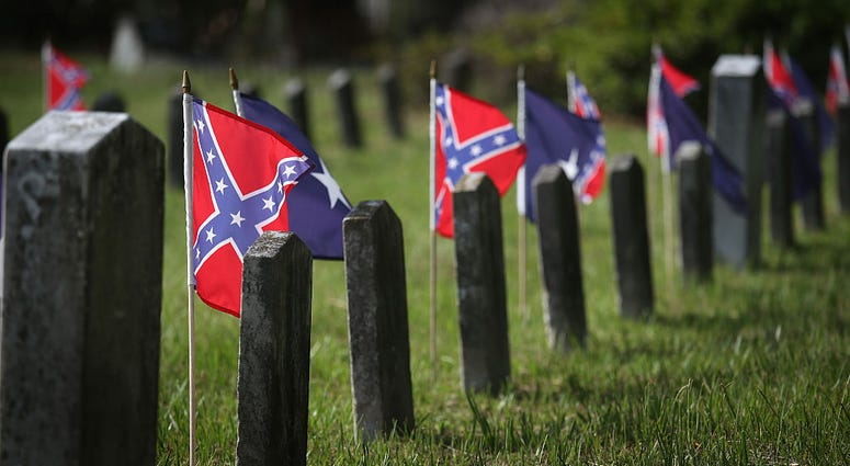 200 Confederate flags removed from Woodbine Cemetery according to Sons of Confederate Veterans