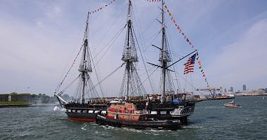 USS Constitution underway