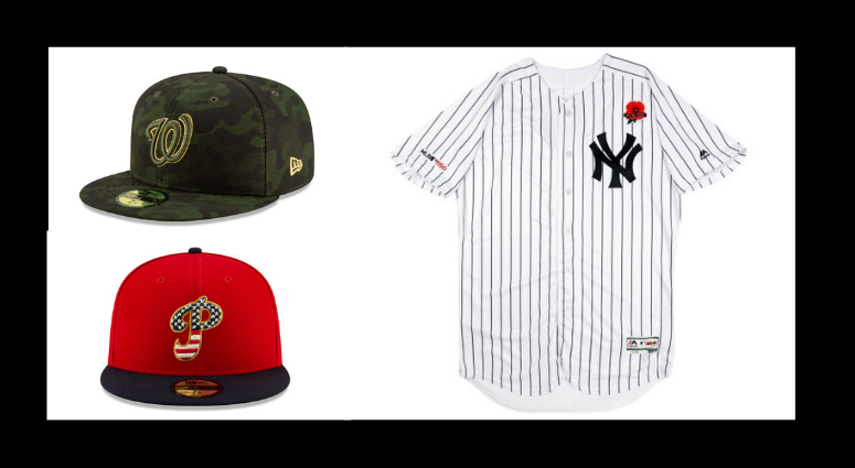 Major League Baseball Unveils New Uniforms For Armed Forces Day
