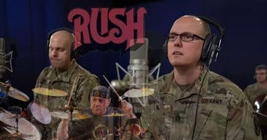 The US Army band plays a tribute to Rush's iconic drummer, the late Neil Peart