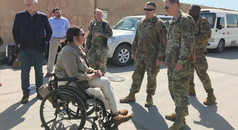 Sen. Duckworth visits Iraq for the first time since being shot down in 2004