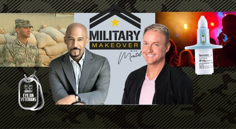Military Makeover hosts Montel Williams Art Edmonds, Sgt Ricardo Branch vs US Army and the club drug that treats depression